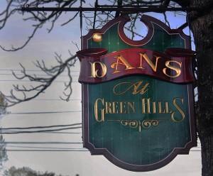 Dans at Green Hills sign