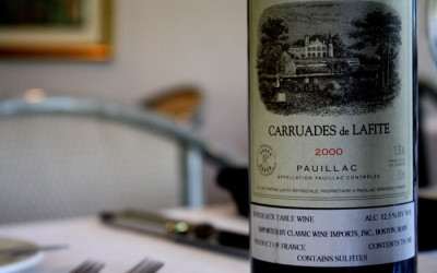 bottle of carruades de lafite 2000