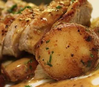 pork tenderloin from Dans at Green Hills, Reading PA restaurant
