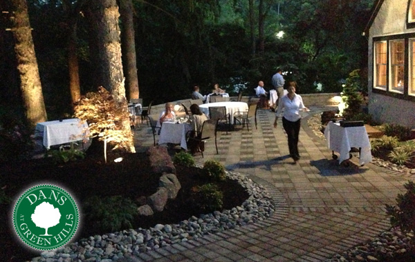 Patio for rehearsal dinner or wedding reception at Dans in Reading, PA